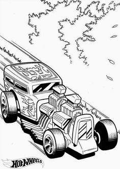 Hot Wheels Coloring Pages - Set 2. A huge collection of Hot Wheels coloring pages. #hotwheels #coloringpages