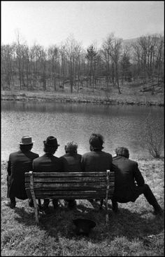 The Band behind Big Pink, Easter Sunday, West Saugerties, NY, 1968.