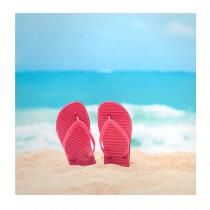 """20"""" Sandals Lacquered Photograph Wall Art"""