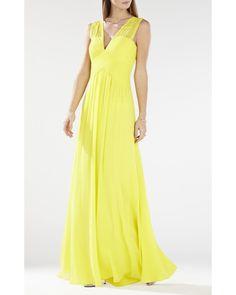 Bcbg Maxazria Astella Sleeveless Shirred Gown IQI62D03-8O5