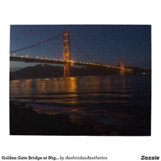 Golden Gate Bridge at Night Jigsaw Puzzle