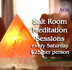 Busy Christmas? Take some time to Relax — Saturday Meditation Salt Sessions  $25.00 Only per person. Bring your friends up to 4 people per session No colds or flus please Phone the AOK Healing Centre on 58231544 PS Christmas SALE NOW ON 30% OFF all Christmas