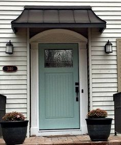 The perfect front door awning . This is the Bronze Juliet style awning by www.De… The perfect front door awning . This is the Bronze Juliet style awning by www. Front Door Overhang, Front Door Awning, House With Porch, House Front, House Exterior, Front Door, Entry Doors, Exterior Doors, Building A Porch