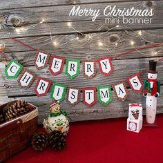 Mini merry christmas banner and holiday printables blog hop mini merry christmas banner and holiday printables blog hop diy solutioingenieria Choice Image