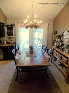 My Ugly Split-level: Dining Room. Finally. Look at dishwasher