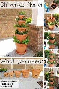 26 Beautiful Simple and Inexpensive Garden Projects Realized With Clay Pots homesthetics decor ideas (13)