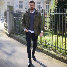 "Justus F. Hansen on Instagram: ""  Commando   - stunning shot by @isabelhayn ! - Chelsea Boots by @ludwig_reiter - Shirt: @etonshirts - Jeans: @cheapmonday - Jacket: Thriftshop"""