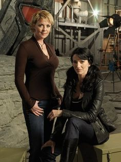 Amanda Tapping and Claudia Black