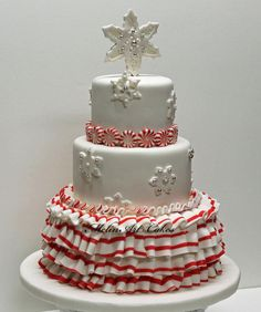 Ruffle Christmas cake