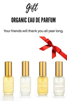 Whether it's Vanilla, Lavender, Lemon Verbena or Ambrosia, EB Eau de Parfums will envelope your senses in nature's seductive, mood altering aromatherapy. Made with sophisticated perfumery techniques using only real essential oils from flowers, fruits, herbs, and spices, our Parfums are concentrated as perfume and last longer than cologne. Intoxicate your world and his.