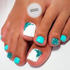 21 Amazing Toe Nail Colors to Choose This Season ❤ Sweet Nail Designs for Toes picture 3 ❤ Your toe nail colors should always keep up with the season. There is no way we will allow you to stay behind and out of the trend! Gel Toe Nails, Feet Nails, Toe Nail Art, Pretty Toe Nails, Cute Toe Nails, Fancy Nails, Pretty Toes, Toe Nail Color, Nail Colors