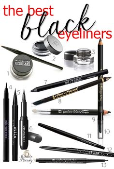 The Best Black Eyeliners! Remember, black brine or brown won't age you as much (or seem as severe in an everyday setting) ~ jg