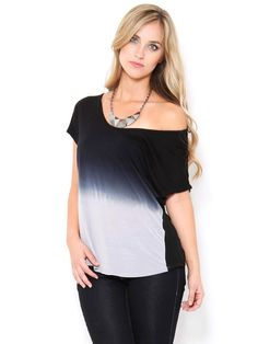 Ombre Chiffon Back Top