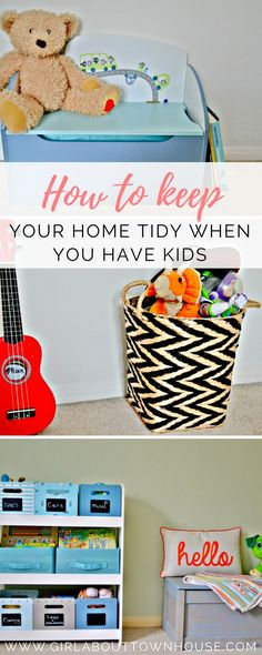 How to keep your home tidy when you have kids - great storage ideas and tips for a clutter-free house with children.