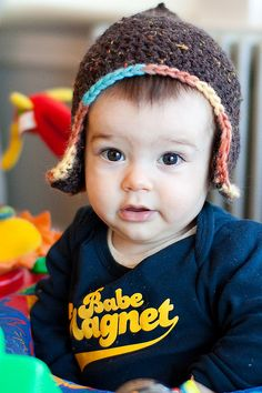 baby's in hats, my fave! free crochet pattern link beneath the photo