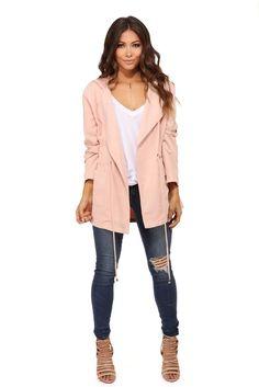 Pink Blushing Draped Anorak | WindsorCloud