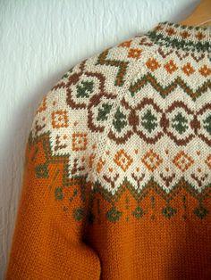 Vintage Norwegian / Nordic Wool Cardigan Sweater by luola on Etsy