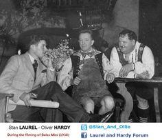 Laurel and Hardy ( Laurel And Hardy, Stan Laurel Oliver Hardy, Comedy Duos, Comedy Actors, Sound Film, Great Comedies, Cinema, Silent Film, Man Humor