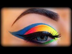 Neon Rainbow Makeup Tutorial inspired by Vintageortacky