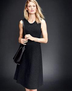 Eileen Fisher Textured Washable Wool Tank Dress