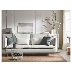 Ikea Soderhamn, Söderhamn Sofa, Bed Slats, Hook And Loop Fastener, White Sofas, Comfortable Sofa, Sit Back And Relax, Fabric Sofa, Wood Veneer