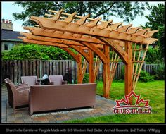 Churchville Cantilever Pergola Made with 8x8 Western Red Cedar, Arched Gussets, 2x2 Trellis - WM.jpg