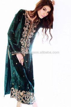 Generation Winter Dresses 2014 For Women 4 Pakistani Party Wear Dresses, Pakistani Outfits, Indian Dresses, Velvet Dress Designs, Muslim Women Fashion, Indian Bridal Fashion, Desi Clothes, Traditional Fashion, Embroidery Fashion
