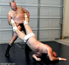 man wrestling wearing white underwear trunks
