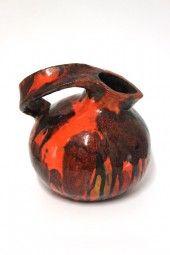 Große Vase 70er Jahre Fat Lava