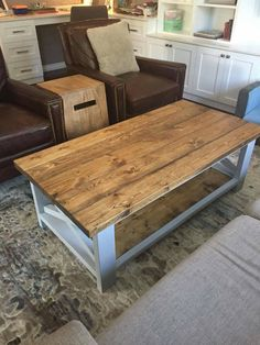 Rustic Coffee Table by LittleSaplingCo on Etsy