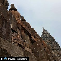 #Repost @traveller_petualang with @repostapp  Prambanan Temple  Candi Prambanan or Candi Rara Jonggrang is a 9th-century Hindu temple compound in Central Java Indonesia dedicated to the Trimurti the expression of God as the Creator (Brahma) the Preserver (Vishnu) and the Destroyer (Shiva). The temple compound is located approximately 17 kilometres (11 mi) northeast of the city of Yogyakarta on the boundary between Central Java and Yogyakarta provinces.  The temple compound a UNESCO World…