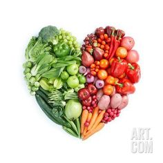 Green And Red Healthy Food Art Print by ifong at Art.com