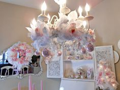 Shabby Chic Christmas Decorating Ideas | ... you some of my sweet Shabby Chic romantic friends Christmas trees