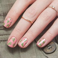 Cactus Manicure | Nail Design