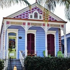 Unusual Exterior Paint Color Combos That Actually Look Really Great Exterior Paint Colors For House, Paint Colors For Home, Exterior Colors, Paint Color Combos, House Paint Color Combination, Color Combinations, New Orleans Architecture, Creole Cottage, Cottage Style