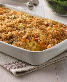 Take your mac and cheese to a whole new level with this veggie-kissed casserole. The crunchy cheese-and-bread-crumb topping makes a perfect finish for the creamy filling.