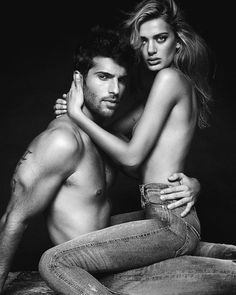 Jeffrey Finn and Bregje Heinen flaunt some skin in Buffalo Jeans' spring-summer 2017 campaign