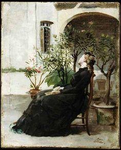Antonino Leto (Monreale,1844–Capri,1913) Grande maestro italiano, aderì al movimento verista. L'Attesa