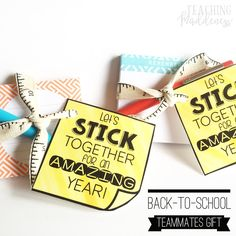 Back To School Teacher Gifts - Back-To-School Teammate Gifts - *Teaching Maddeness* - My Women Style Pins Teacher Treats, Best Teacher Gifts, School Treats, Student Treats, Teacher Gift Baskets, Staff Gifts, Team Gifts, Student Gifts, Coach Gifts