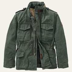 Shop Timberland for the Mount Davis men's waxed canvas jackets.