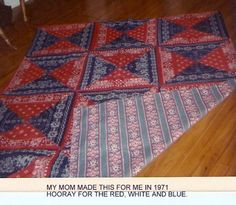 BANDANA...RED, WHITE AND BLUE QUILT...CIRCA 1971