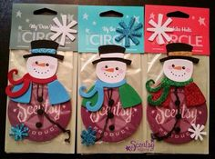 DIY Scentsy Christmas gift! Order some scent circles (car freshners) decorate and gift to family, friends , co-workers, teachers, ups driver ect! Cute, simple affordable gift!!