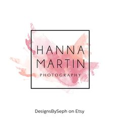 Items similar to Pre-made Logo & Photography logo - Logo Template - Pre-made Watermark Design - photo watermark - Watercolor Logo - Watercolor watermark 544 on Etsy Photography Logo Design, Photography Business, Watermark Photography, Profil Facebook, Facebook Profile, Logos Online, Watermark Design, Font Design, Logo Minimalista
