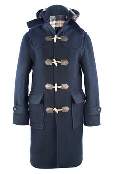 Luxire Duffle coat, made of Boiled navy 24oz with horn button and horn toggles