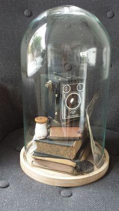 Mooie herinneringen Glass Bell Jar, The Bell Jar, Bell Jars, Glass Dome Display, Glass Domes, Vintage Room, Shabby Vintage, Rustic Design, Rustic Decor