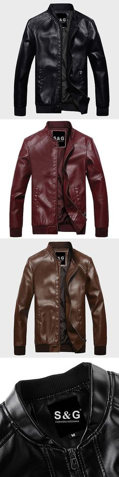 Men Coats And Jackets: Men S Genuine Leather Jacket Black Slim Fit Biker Motorcycle Jacket New 2017 -> BUY IT NOW ONLY: $34.89 on eBay!
