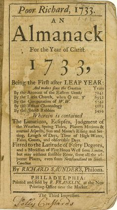Printing done by Ben Franklin was the source for the P22 Franklin's Caslon font