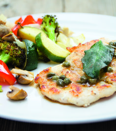 Paleo Pouletpiccata mit Ofengemüse Paleo, Vegetable Pizza, Vegetables, Food, Cooking, Essen, Beach Wrap, Vegetable Recipes, Meals