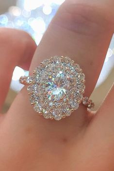 Halo Engagement Rings Or How To Get More Bling ❤ See more: www.weddingforwar… - 36 Halo Engagement Rings To Get More Bling Bridal Rings, Wedding Jewelry, Modern Jewelry, Fine Jewelry, Jewellery Box, Jewellery Shops, Silver Jewelry, Jewlery, Tiffany Jewellery