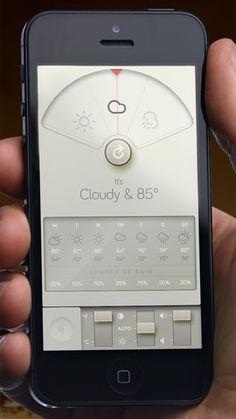 Weather Dial, la forma minimalista de consultar las condiciones climáticas